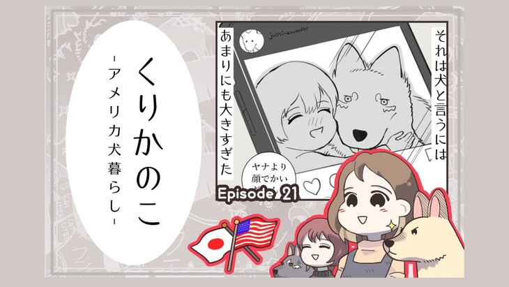 くりかのこ アメリカ犬暮らし【第21話】「ドラゴンこ〇し」