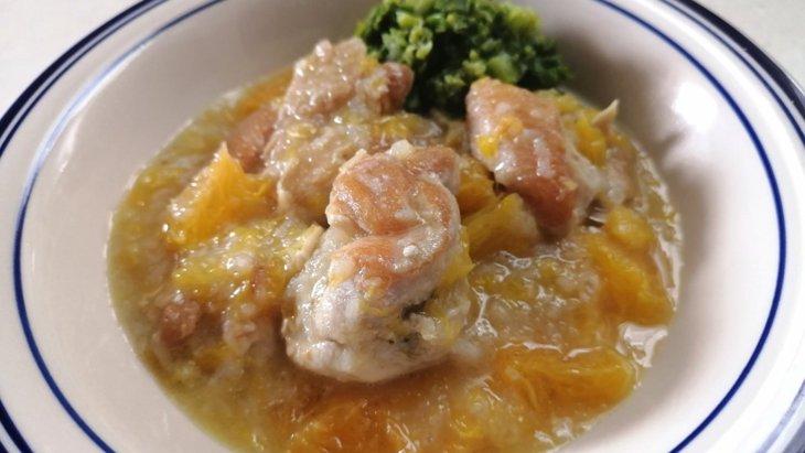 【わんちゃんごはん】リフレッシュ!『鶏肉と蓮根の柑橘ソース』のレシピ