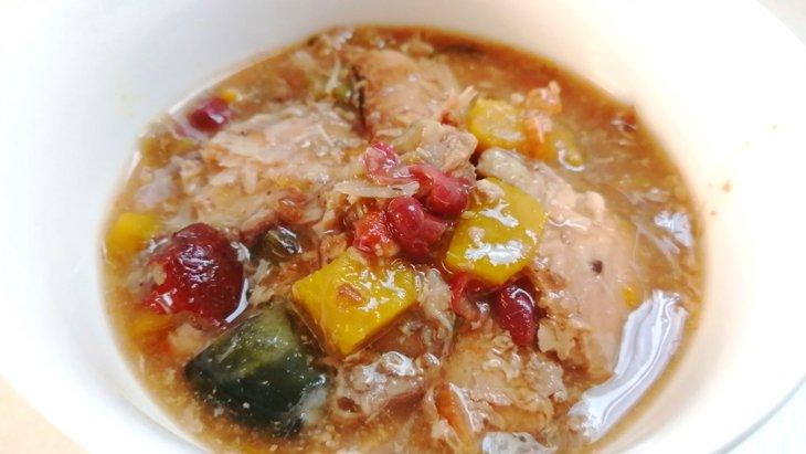 【わんちゃんごはん】頭も骨もまるごと食べる『鮭と秋野菜の朝ごはん』のレシピ