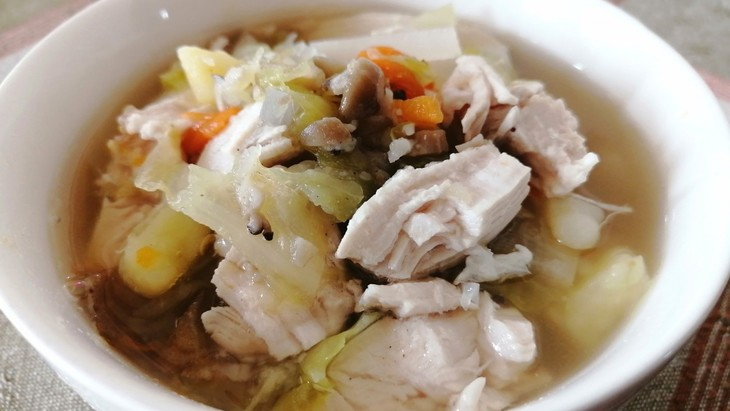 【わんちゃんごはん】シンプルで美味しい『鶏肉と秋野菜のスープ』のレシピ