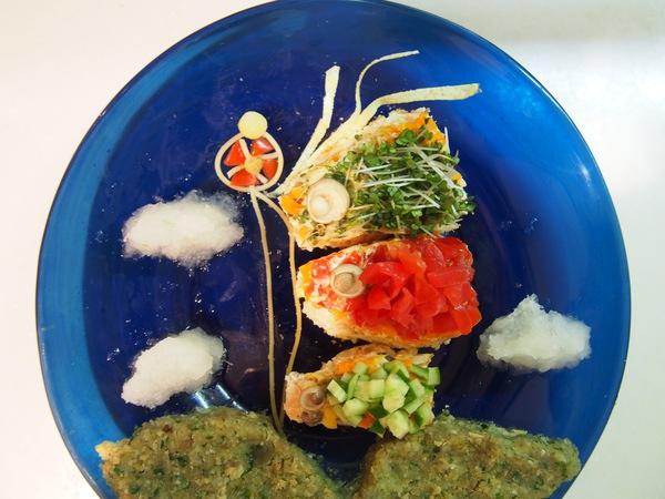 「端午の節句」はサーモンオムレツの鯉のぼりプレートでお祝い!