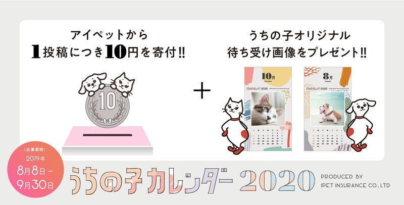 【締切迫る!】全員プレゼント!2020年の愛犬カレンダーを作ろう!
