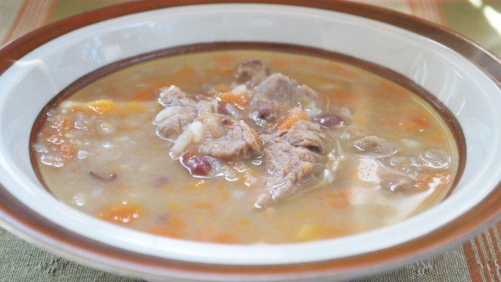 【わんちゃんごはん】牛肉と根菜のデトックス小豆スープ