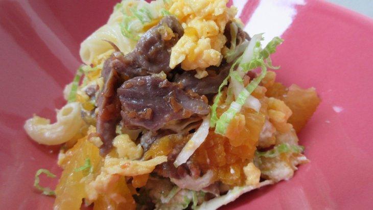 【わんちゃんごはん】『砂肝とみかんのごちそう春サラダ』のレシピ