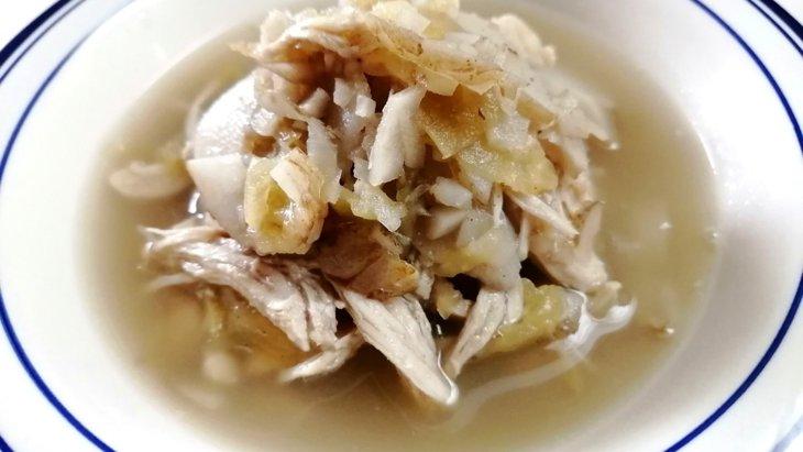 【わんちゃんごはん】お腹の調子を整えよう『ごぼうとキクイモのりんごスープ』のレシピ