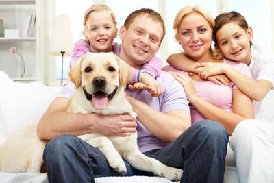 ラブラドールと家族