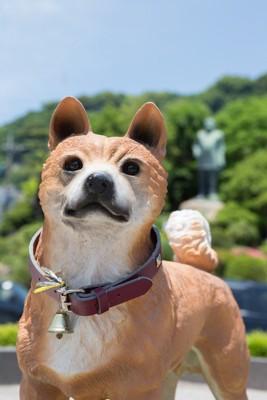 薩摩犬の銅像