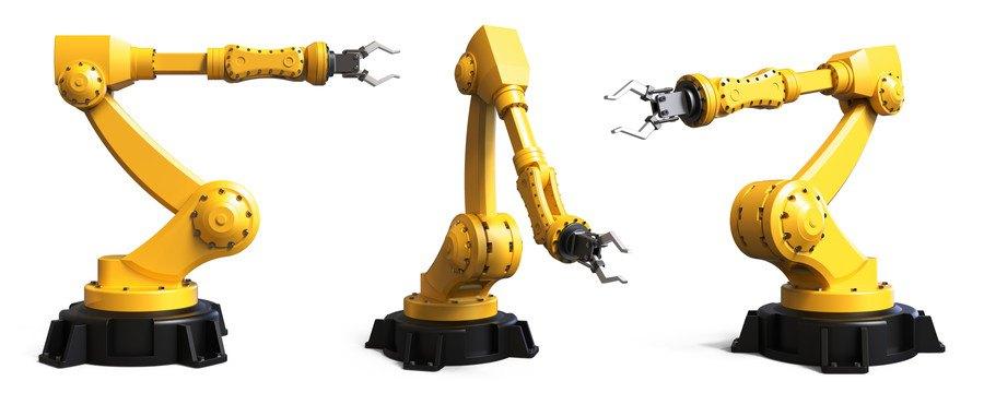 アームとハンドルの工業用ロボット
