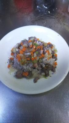砂肝を使った犬の手作りご飯、手順3