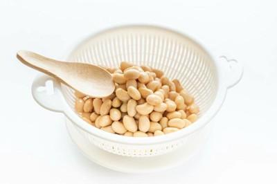 茹でた大豆