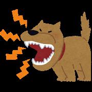 吠える犬のイラスト