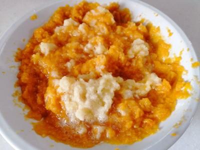 ペースト状のかぼちゃとさつま芋