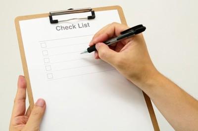 簡易的なチェックリスト