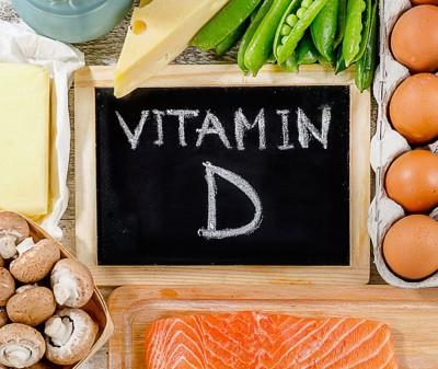 VitaminDの文字と食品
