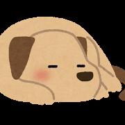 眠る犬のイラスト