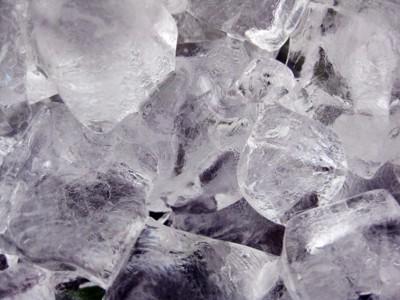 四角い氷の写真