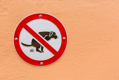 犬の排泄禁止のマーク