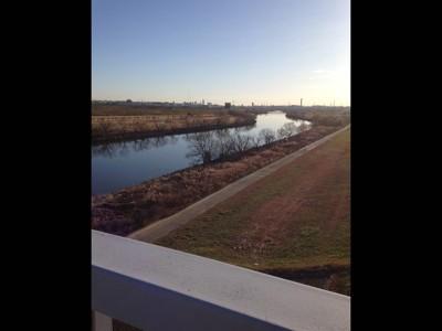 幸魂大橋から見える荒川