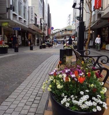 商店街の街並み