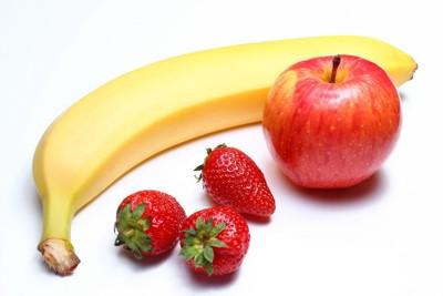 バナナといちごとりんご