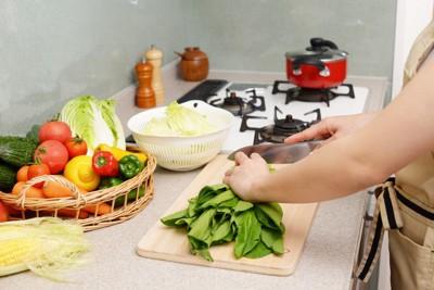 料理を作る人