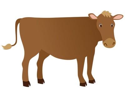 茶色い牛のイラスト