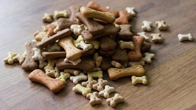 骨型の犬用クッキー