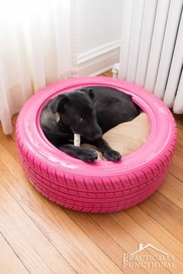 タイヤのベッド