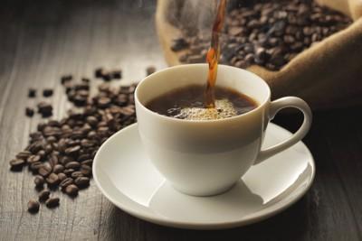 注がれているコーヒー