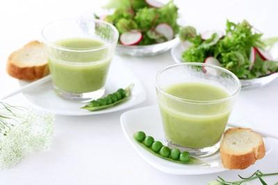 えんどう豆とスープ