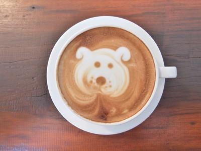 犬のアートコーヒー