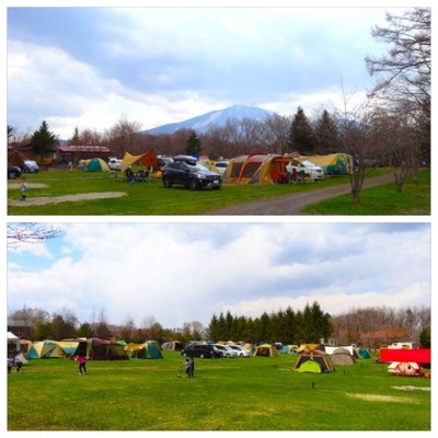 浅間山が見えるキャンプサイト