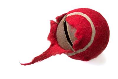 破損したボールのおもちゃ