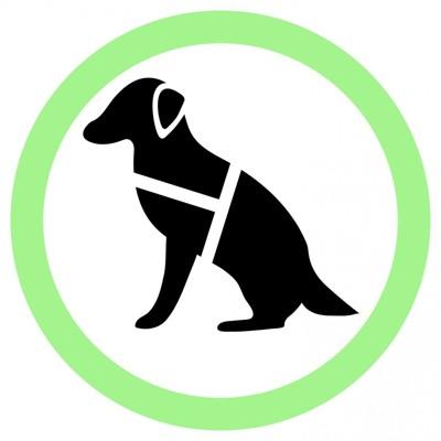 盲導犬のアイコン
