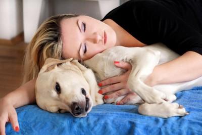 寝ている犬にしつこい人