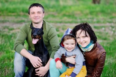 家族とドーベルマン