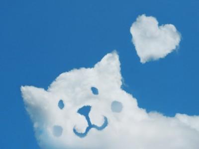 犬を模した雲