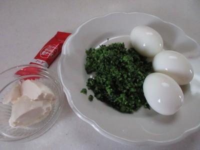 茹で卵とブロッコリーなど、材料写真