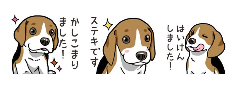 わんこ日和 ビーグル こいぬ vol.4 敬語