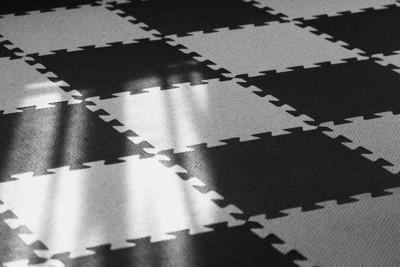 白×黒のジョイントマット