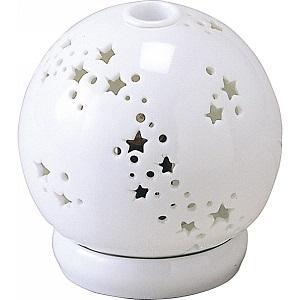 白いアロマポットの写真