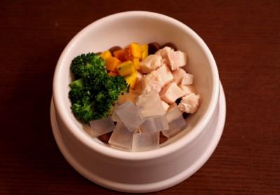 鶏スープ寒天トッピング
