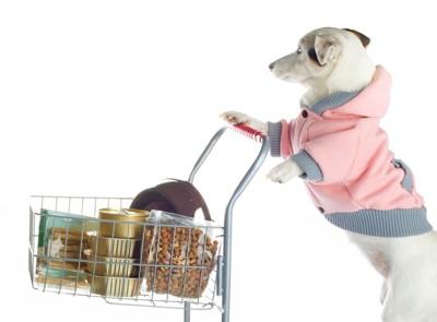 犬 お買い物 カート ボーダー