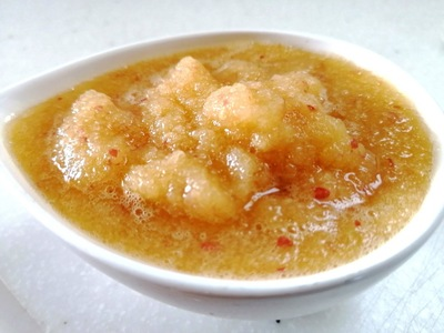人間用りんごと生姜のソース