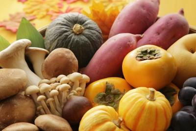 いろいろな秋の食べ物