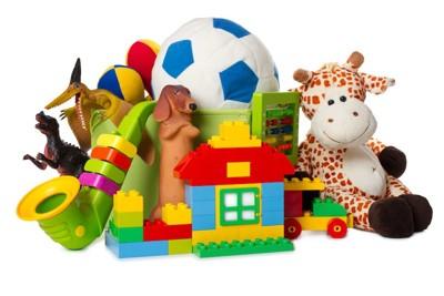 様々な種類の赤ちゃんのおもちゃ
