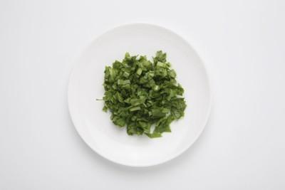 細かくカットした小松菜
