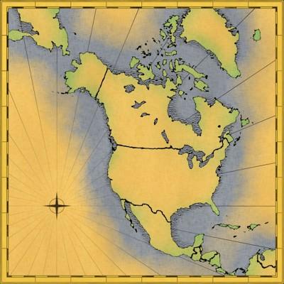 アメリカ大陸の地図