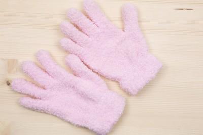ピンクの手袋