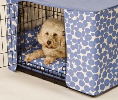 犬用ケージにカバー